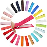 Qearl 50PCS 1.8' Fully Lined DIY Alligator Hair Clips Hair Barrettes for Fine Hair Infants Baby Girls Toddlers Kids In Pairs