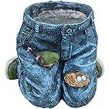 Y-M-H Micro Paisaje Resina Maceta Blue Jeans Escultura Flor Botes Bonsais Plantas para El Hogar Offi...