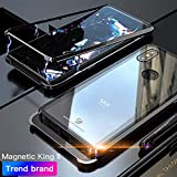 Eastcoo Compatible with Xiaomi Mi Mix 3 Hülle, Xiaomi Mix3 Black Cover Starke magnetische Adsorptionstechnologie Gehäuse aus Metall mit durchsichtigem gehärtetem Glas (Mi Mix 3, Black)