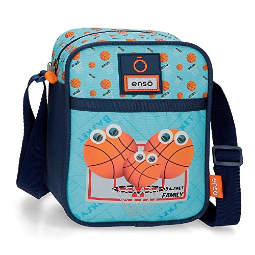 Enso Basket Family Umhängetasche Blau 15x19x10 cms Polyester