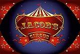 Fondo de fotografía Primera Fiesta de cumpleaños bebé Circo Tema Carnaval Carpa Postre Banner Foto Accesorios de Fondo A2 7x5ft / 2,1x1,5 m