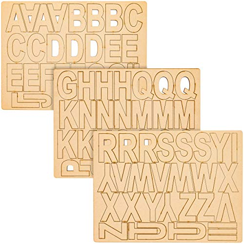 Wooden Alphabet Letters for Crafts (3 Inches, 83-Pack)