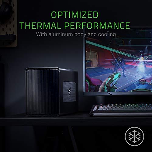 Razer Core X Externes Grafikkarten Gehäuse mit Thunderbolt 3 für Windows 10 and Mac Laptops, Schwarz