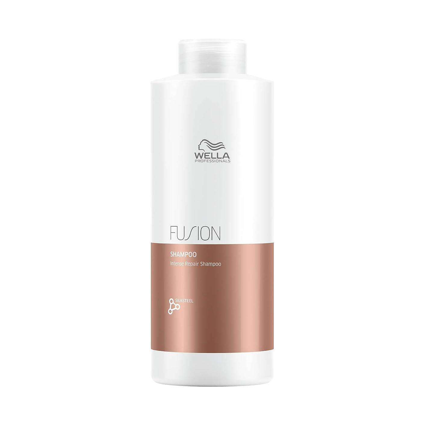 重要な入るジャーナルWella FUSION PLEX Intense Repair Shampoo (with Sleek Steel Pin Tail Comb) (33.8 oz / 1000 ml - Liter) 141[並行輸入]
