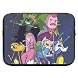 Adventure Time Finn Jak Funda para portátil 15 ″ Funda para Ordenador Maletín para Tableta Mensajero portátil Impermeable