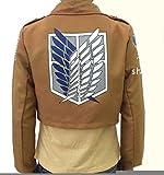 「zodeac」進撃の巨人 調査兵団 リヴァイ兵長 ジャケット 紋章 ベージュ コスプレ衣装 Mサイズ