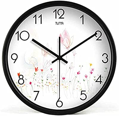 Living Room Metal Wall Clock Modern Design Reloj De Pared Quartz Personalized Colorful Silent Rose Wall