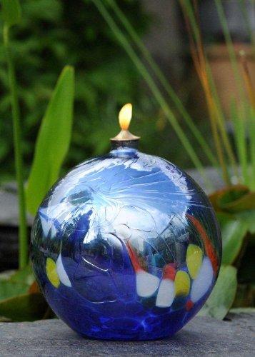 D&J Glassware Friendship Oil Lamp (Blue)