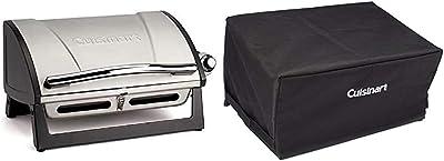 Cuisinart CGG-059 Propane, Grillster 8,000 BTU Portable Gas Grill & CGC-10059 Grillster Portable Grill Cover, compact