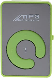 MagiDeal Fashionable Mirror Clip HiFi MP3 Music Player SD TF - Green, 44x29x15mm