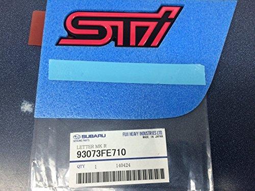 Subaru 2005 Impreza WRX STi Rear Trunk Emblem Pink and Black OEM New Genuine 93073FE710