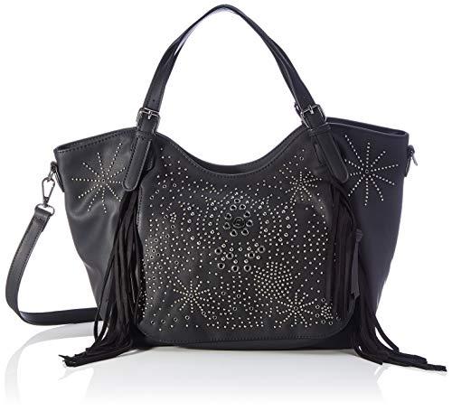 Desigual Accessories PU Shoulder Bag, Borsa a Tracolla. Donna, Nero, U