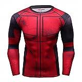 Cody Lundin T-Shirt Style de Film pour Homme T-Shirt à Manches Longues Rouge Tight Fitness Sport