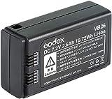 Godox VB26 - Batería de litio para Godox V1 Flash, por ejemplo, Godox V1N V1S V1C V1F V1O V1P Cabeza Redonda Flash Speedlite VB26