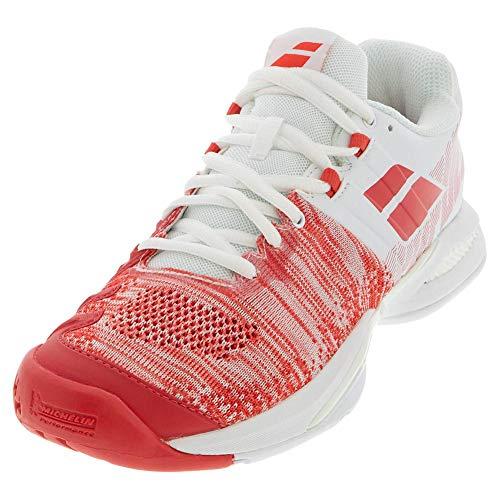 Babolat Propulse Blast AC Women, Scarpe da Tennis Donna, White/Hibiscus, 42 EU
