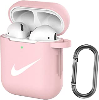 AirPods Case Protective Soft Silicone Cover,AirPods Accessories Case Skin for AirPods 2 and 1 (Pink)