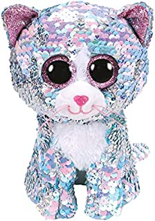 Ty Whimsy - The Blue Sequin Cat - Medium - 10