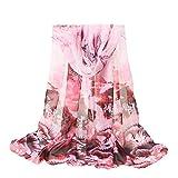 Seiden Blume Chiffontücher, Oyedens Frauen Blumen Drucken Lange Weiche Wrap Schal Schals