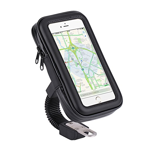 impermeable universal del montaje de la motocicleta de la moto la caja del sostenedor del soporte del teléfono del espejo retrovisor de montaje para el iPhone para Samsung teléfono S4 S5 S6 S7 (XL)
