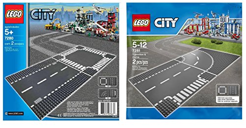 LEGO City 7280 and 7281 - Road Base Plates (4 Plates in total)