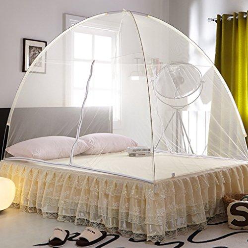 Mosquito nets PopUp Dome tienda Diseño Outdoor mongolischen Yurta Cúpula neta libre montaje y Doblar las redes Adecuado para adultos niños y bebés Insectos evitar Air Flow Pop Up Tienda cortinas, Rosa