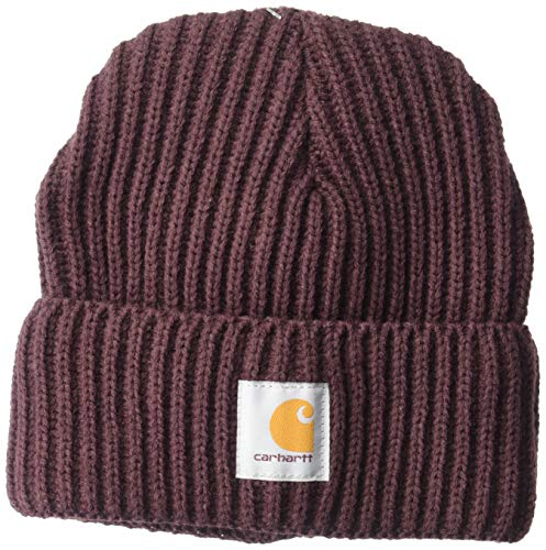 Carhartt Women's Rib Knit Acrylic Hat, Deep Wine, OFA