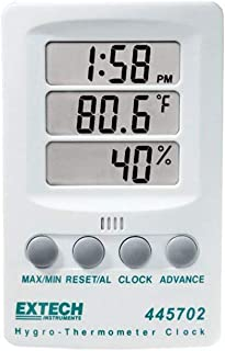 Extech 445702 Hygro Thermometer Clock