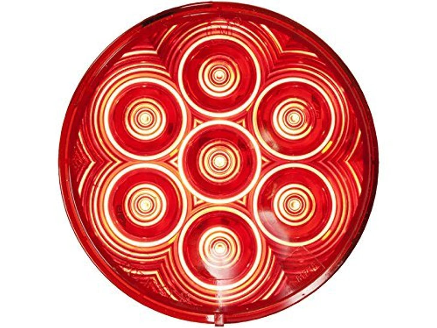 Peterson M826R-7 Round LED Stop, Turn & Tail Light, 4-Inch
