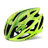 Morsky Casco de bicicleta, diseño ligero microconcha, tallas para adultos, jóvenes y niños, color amarillo, tamaño S/M(52-58CM)