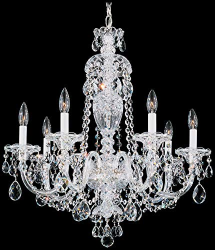 RuiXia Schonbek 2995-40H Swarovski Lighting Sterling Chandelier, Silver