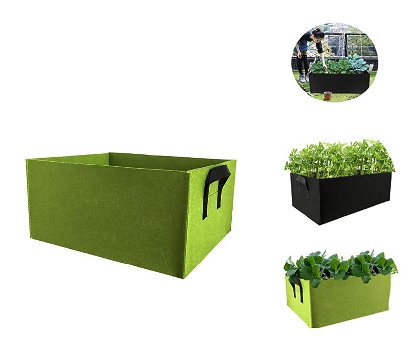 宣伝切り離す新聞Xinhengchen ガーデンバッグに最適 庭栽培バッグハンドル付き正方形 植物栽培バッグ 生地栽培バッグフェルト植物バッグ あらゆる種類の花、野菜、鉢植え 5パック Green 40*30*20CM