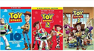 Black Series Toy Story Trilogy DVD Movie The Complete Collection 1, 2, 3 All 3 Parts