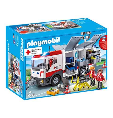PLAYMOBIL 9536 Drk Gerätewagen Deutsches Rotes Kreuz Krankenwagen mit Lichtmodul .