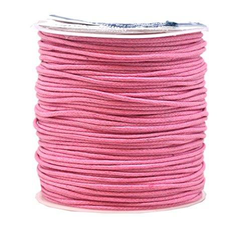 Mandala Crafts - Cuerda de algodón encerado (1,5 mm, 109 yardas), color rosa