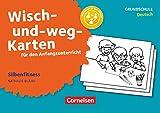 Wisch-und-weg-Karten für den Anfangsunterricht - Deutsch: Silbenfitness - 32 Bildkarten mit Begleitheft
