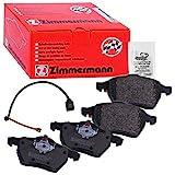 Zimmermann 23018.200.1 Serie Pastiglie Freno, Anteriore, 1 Sensore, 4 Piastre Antivibrazione