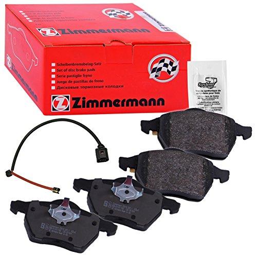 Preisvergleich Produktbild ZIMMERMANN 23392.200.1 Serie Bremsbeläge,  vorne,  1 Sensor,  inklusive Platte dämpfend