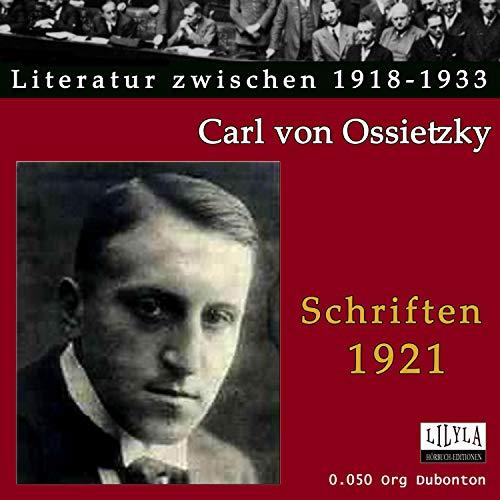 Schriften 1921 Titelbild