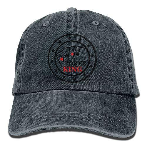 Poker King A F2 Cowboy Hip-Hop Hat Rear Cap Adjustable Cap