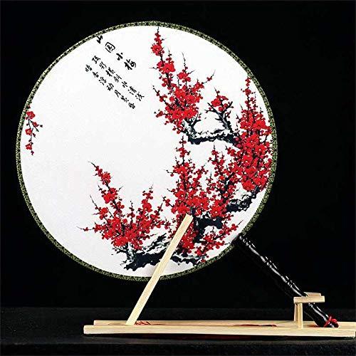 MOAIXKMM Fans, Fan, Palast doppelseitige Stickerei, Festival im chinesischen Stil, großer runder Fan, klassischer Fan-7