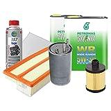 Kit Tagliando 4 filtri + 4 LT Selenia 5W30 motori 1.3 multijet Euro 5 + Tunap 157 per la pulizia del circuito di lubrificazione prima del cambio dell'olio