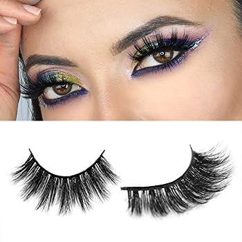 Arison Lashes 3D Silk Lashes Synthetic Eyelashes Faux Mink Eyelashes Soft Long Dramatic Wispy Fluffy Handmade Fiber False Lashes 1 Pair Package  D28