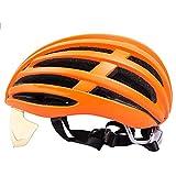 Sebasty Integralhelme Ultralight Erwachsene Männer und Frauen Fahrrad Reithelm Brille Eine abnehmbare Brille Helm