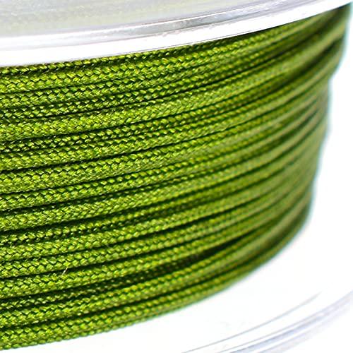 SHHMA Hilo De Nylon Cordón De Nylon Cuerda Trenzada Adecuado para Abalorios, Hacer Pulseras, Artesanía,Vegetation Green