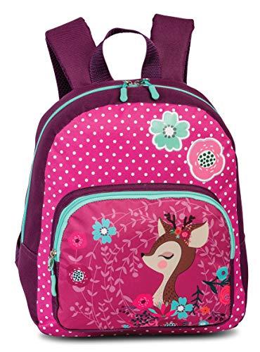Fabrizio Kinderrucksack Rucksack Deer Azalee Rehkitz pink Beere