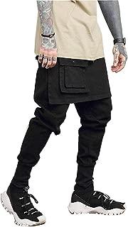 Men's Casual Street Cargo Trousers Male Punk Hip Hop Dancer Harem Pant Jogger Sweatpants