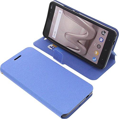 Tasche für Wiko Lenny 4 Plus Book Style blau Schutz Hülle Buch