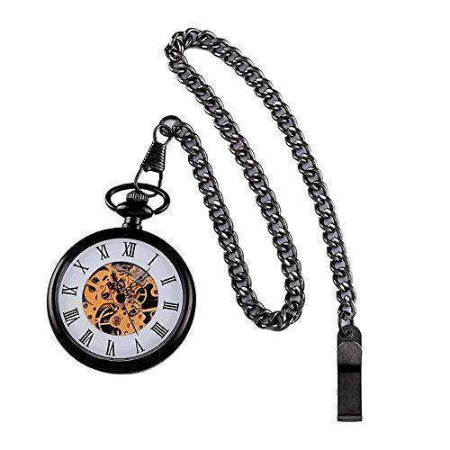 GyLazhuzizsb 男性と女性の半自動機械式時計のレトロなカバーレスの懐中時計の古典的なファッションの贈り物