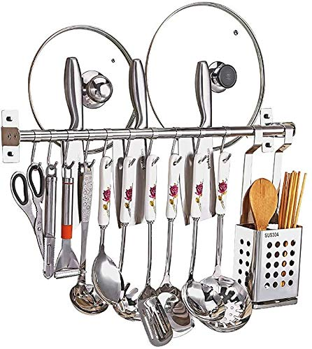 DJSMsnj Kitchen Storage, Stainless Steel Sink Drain Rack Kitchen Shelves Display Stand Kitchen Supplies Storage Rack Cutlery Racks