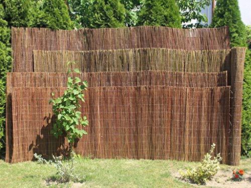 Weidenmatte - Sichtschutzmatte für Garten, Balkon oder Terrasse - Länge 3 Meter - 4 verschiedene Höhen verfügbar